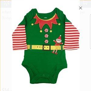 Elf Christmas Bodysuit for Newborn